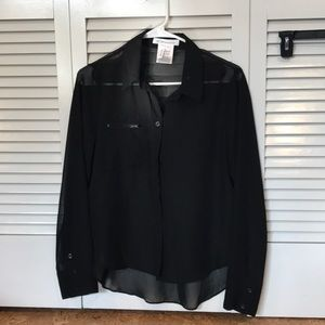 BCBGeneration Sheer Button Down